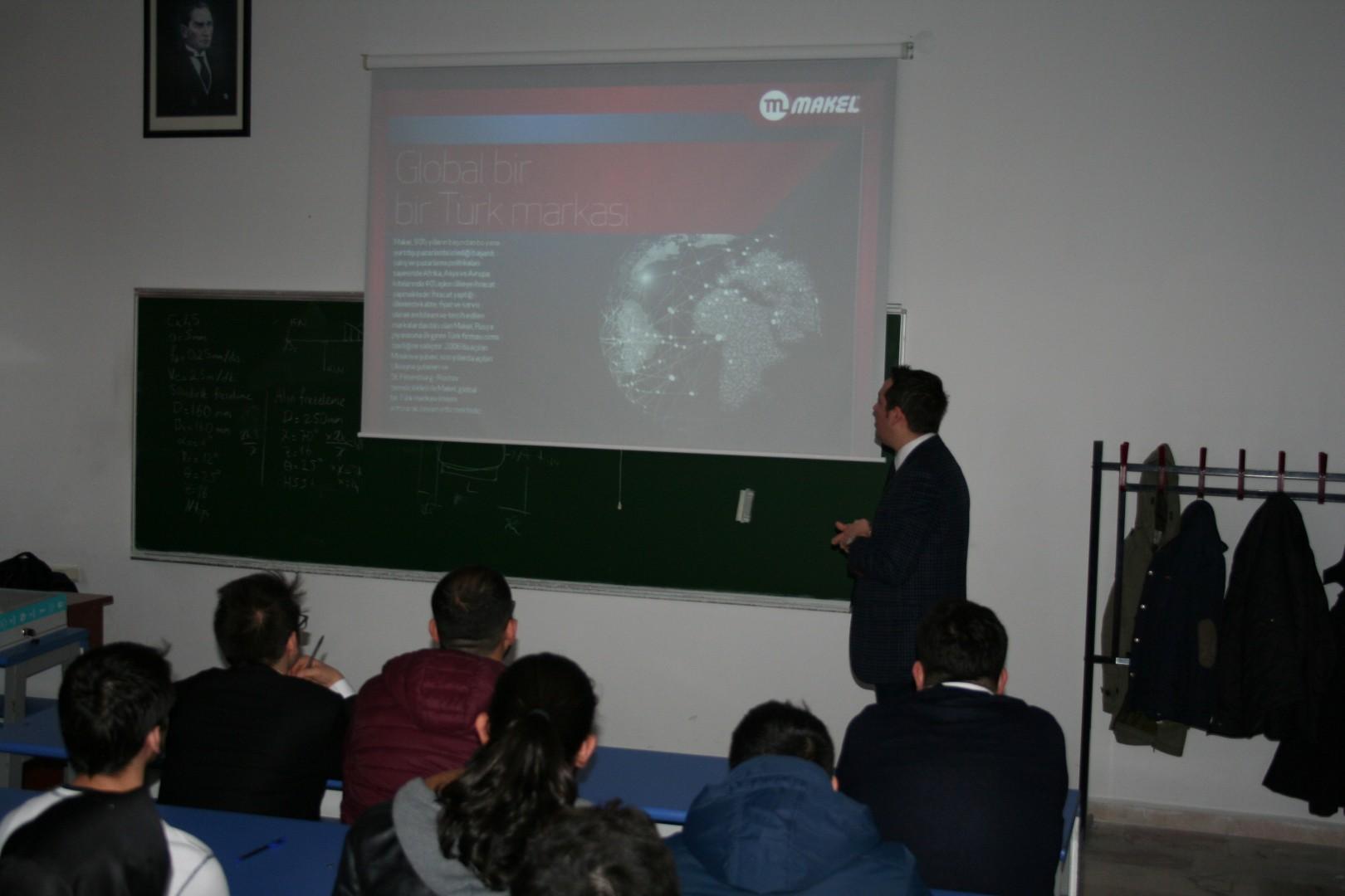 Makel AR-GE Merkezi Dumlupınar Üniversitesi Öğrencileri ile Buluştu.