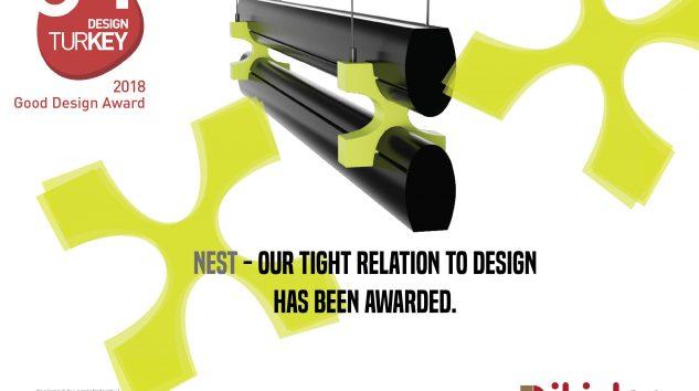 """İkizler Aydınlatma""""Nest""""Aydınlatmada en iyi tasarım ödülünü aldı"""
