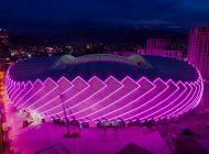 Batum Stadyumu Sylvania ile görsel şölene dönüştü.