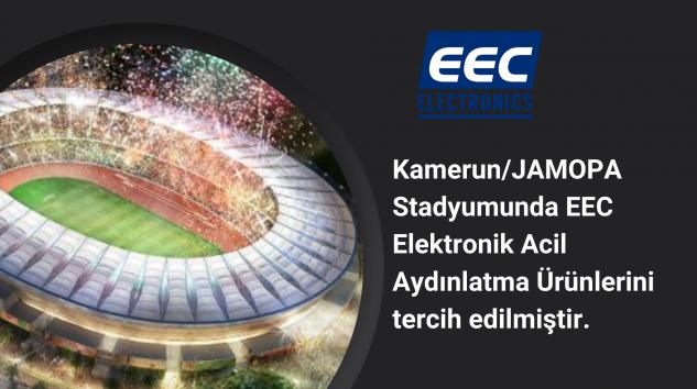 Kamerun/JAMOPA Stadyumunda EEC Elektronik Acil Aydınlatma Ürünleri tercih edildi