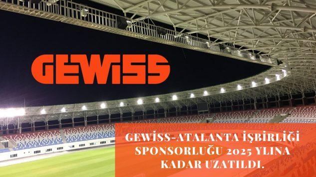 Gewiss-Atalanta işbirliği sponsorluğu 2025 yılına kadar uzatıldı.